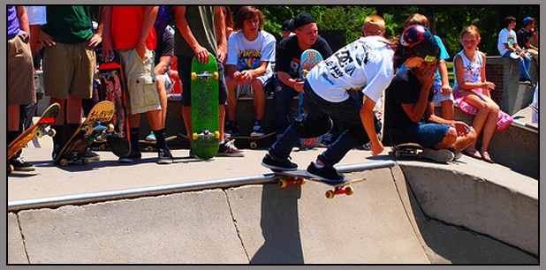 Skaters at Woodland